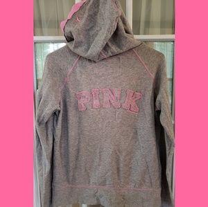 Victoria's Secret PINK  light zip up hoodie